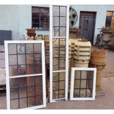 Three Pairs of Decorative Glazed Cupboard Doors